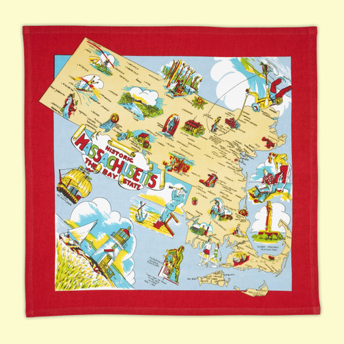 Massachusetts Map Towel