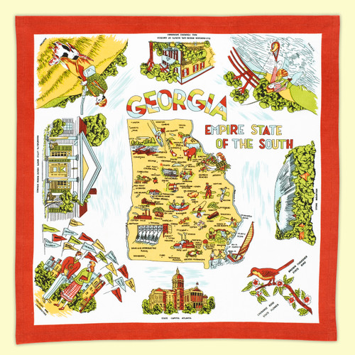 Georgia Map Towel