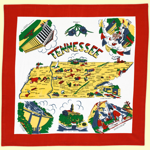 Tennessee Map Towel