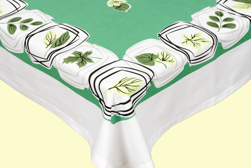 Leaf Motif Tablecloth