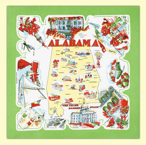 Alabama Map Towel