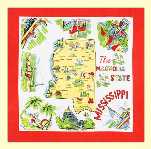 Mississippi Map Towel