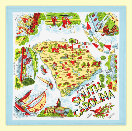 South Carolina Map Towel