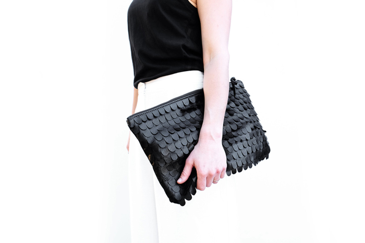 Scallop Oversized Clutch