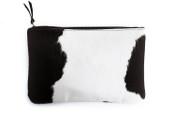 Black + White Oversized Clutch