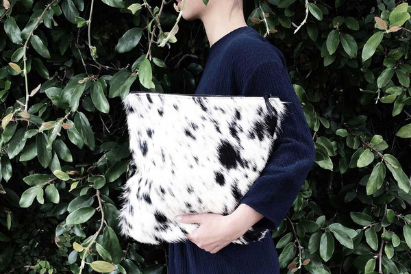 Salt + Pepper Oversized Clutch