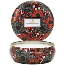 Voluspa Persimmon & Copal 3 Wick Tin Candle