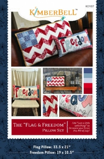 Flag and Freedom Pillow Set Pattern