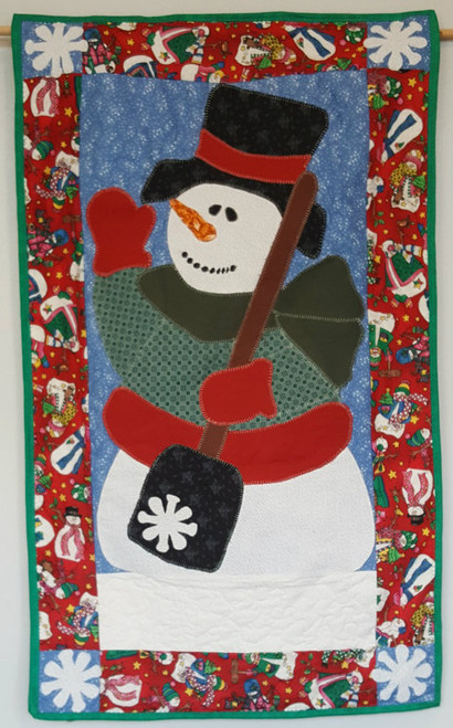 Cheerful Snowman Wall Hanging