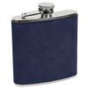 Hip Flask Blue Leather