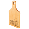 "Engraved Maple Paddle Shaped Cutting Board 13.5"" x  7"""