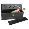 Engraved Black/Gold Wine Box with Tools
