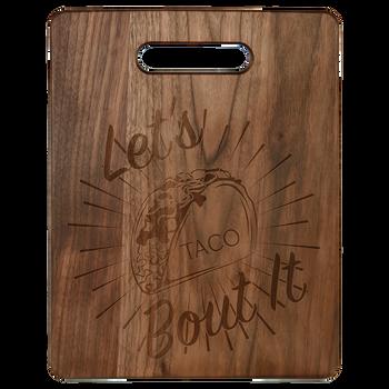 """Engraved Walnut Cutting Board 11.5"""" x 8.75"""""""