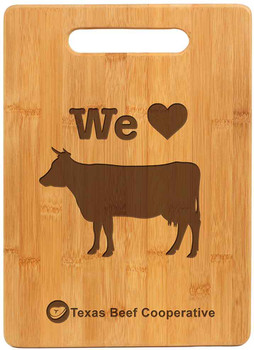 "Engraved Bamboo Cutting Board 13.75"" by 11.5"""