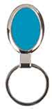 Blue Oval Keychain with Custom Laser Engraving