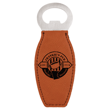 Rawhide Magnetic Bottle Opener with Custom Laser Engraving