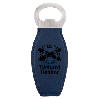 Blue Magnetic Bottle Opener with Custom Laser Engraving