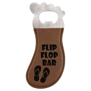 Dark Brown Magnetic Foot Bottle Opener with Custom Laser Engraving
