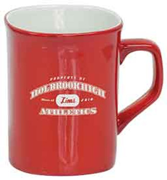 Red Rounded Lip Coffee Mug Engraves White
