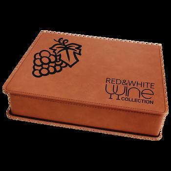 Engraved Rawhide Leatherette 5-Piece Wine Tool Set