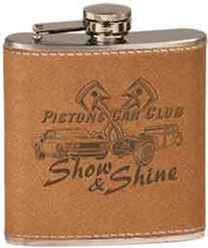 6 oz. Leather Stainless Steel Flask