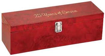 Engraved Burlwood High Gloss Finish Wine Box