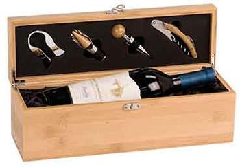 Engraved Bamboo Wine Box