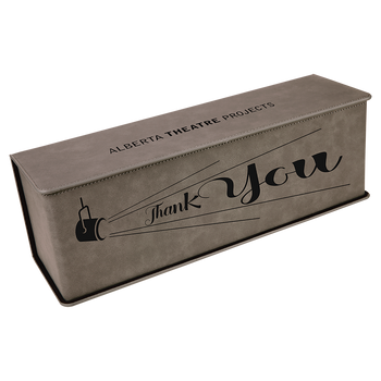 Engraved Gray Wine Box with Tools