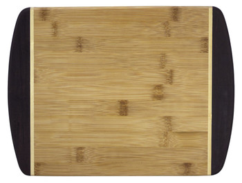 Engraved Dark Two-Tone Bamboo Cutting Board 12""