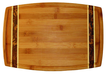 Engraved Marbled Bamboo Cutting Board 15""