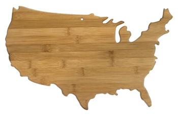 """USA Shaped Bamboo Cutting Board 17.5"""""""