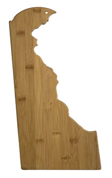 "Delaware Shaped Bamboo Cutting Board 16.5"""
