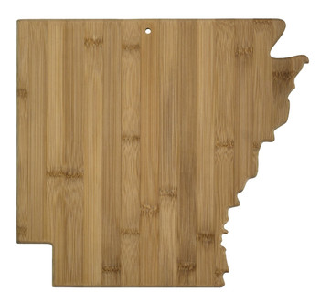 Arkansas Shaped Bamboo Cutting Board 13""