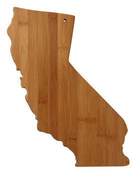 California Shaped Bamboo Cutting Board 14.25""