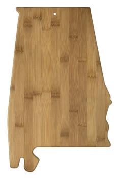 """Alabama Shaped Bamboo Cutting Board 15.75"""""""