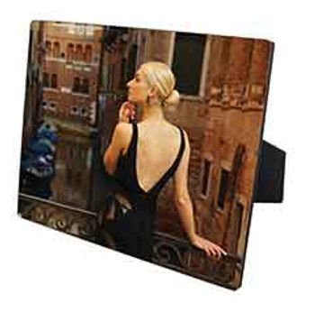 "8"" x 10"" Chromaluxe Flat Top Photo Panel with Easel"