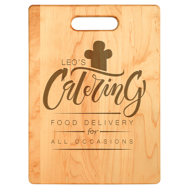 "Engraved Maple Cutting Board 13.75"" x  9.75"""