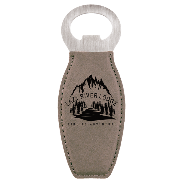 Gray Magnetic Bottle Opener with Custom Laser Engraving