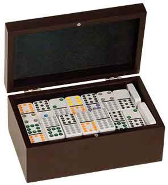 Engraved Rosewood Domino Set