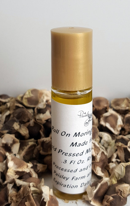 *NEW* ORGANIC Cold Pressed Moringa Oliefera Seed OIl - Roller Top Bottle