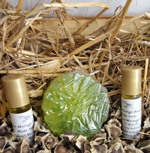 ORGANIC-Moringa Soap & Pure Cold-Pressed Moringa Oil Combo - Made in USA!