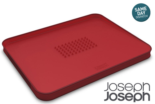 JOSEPH JOSEPH CUT CARVE PLUS RED MULTI FUNCTION CHOPPING BOARD DOUBLE SIDED NON SLIP FEET