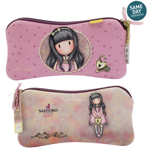 Gorjuss The Secret Accessory or Pencil Case Full Length Zip Closer Santoro