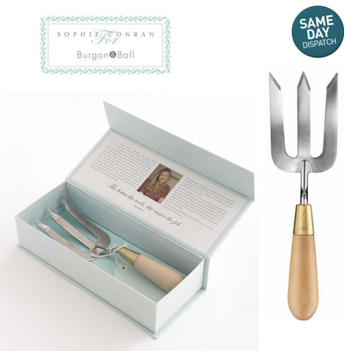 Sophie Conran Burgon & Ball Gardening Hand Fork Stainless Steel Wood Handle Gift Box