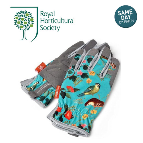 Burgon & Ball RHS Ladies Gardening Gloves Flora & Fauna Machine Washable One Size