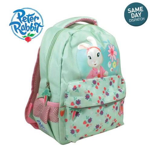 Peter Rabbit & Friends Lily Bobtail Mint Green Backpack Rucksack Adventurer Beatrix Potter BBC