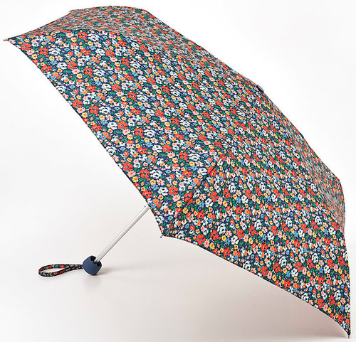 Cath Kidston Mews Ditsy Blue Minilite Handbag Size Folding Umbrella