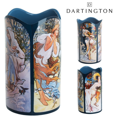 Mucha The Four Seasons Ceramic Art Vase Dartington Beswick Gift Boxed Parastone