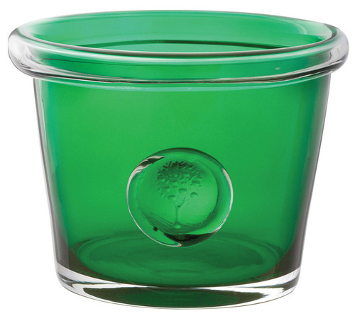 Dartington RHS Medium Bottle Green Glass Flower Pot Holder Gift Boxed 17x13 cm