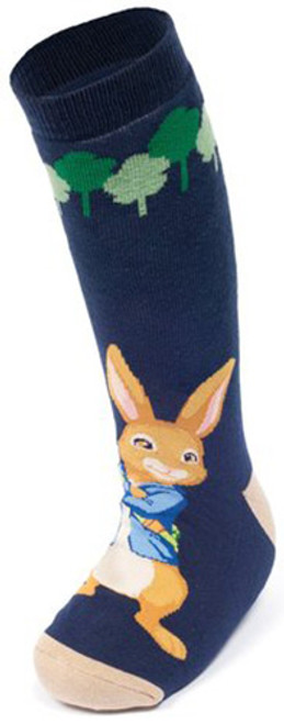 Peter Rabbit & Friends Pair of Wellington Boot Socks Navy Blue Adventurer BBC